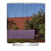 Colorful Commercial Building Exterior Shower Curtain