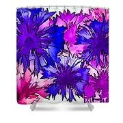 Colorful Cornflowers Shower Curtain