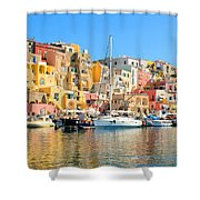 Colorful Corricella Shower Curtain