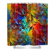 Colorful Crash 11 Shower Curtain