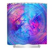 Colorful Crash 7 Shower Curtain