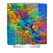 Colorful Crash 8 Shower Curtain