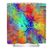 Colorful Crash 9 Shower Curtain