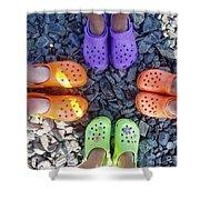 Colorful Crocs Shower Curtain
