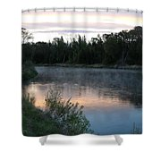 Colorful Dawn Reflections Shower Curtain