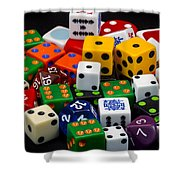 Colorful Dice 2 Shower Curtain