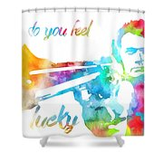 Colorful Dirty Harry Shower Curtain