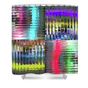 Colorful Distortions Shower Curtain