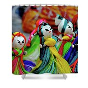 Colorful Dolls Shower Curtain