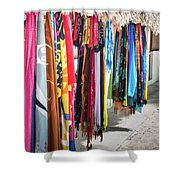 Colorful Dominican Garments Shower Curtain