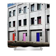 Colorful Doors- By Linda Woods Shower Curtain
