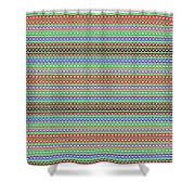 Colorful Dots N Mini Circles In Line Patterns With Background Textures Fineartamerica.com Licensing  Shower Curtain