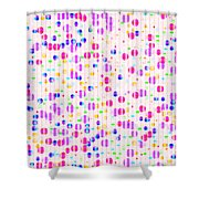 Colorful Dots On Pink Shower Curtain