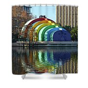 Colorful Downtown Orlando Shower Curtain