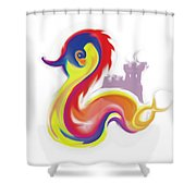 Colorful Dragon Shower Curtain