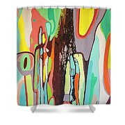 Colorful Earth Day Shower Curtain