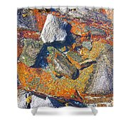 Colorful Earth History Shower Curtain
