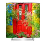 Colorful Entrance ... Shower Curtain