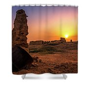 Colorful Evening In The Ruined World.. Shower Curtain
