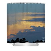 Colorful Evening Sky Shower Curtain