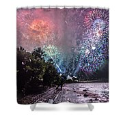 Colorful Explosions Shower Curtain