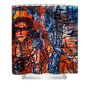 Colorful Expression-5 Shower Curtain