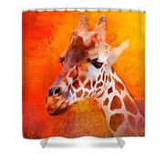 Colorful Expressions Giraffe Shower Curtain