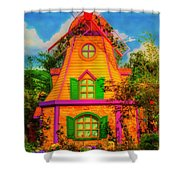 Colorful Fantasy Windmill Shower Curtain
