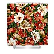 Colorful Floral Design Shower Curtain