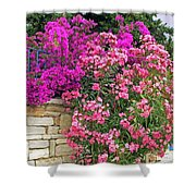 Colorful Flowering Shrubs Shower Curtain