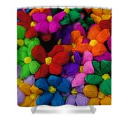 Colorful Flowers Shower Curtain