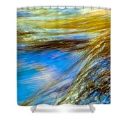 Colorful Flowing Water Shower Curtain
