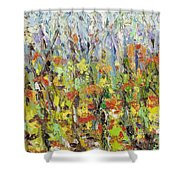 Colorful Forest Shower Curtain