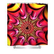 Colorful Fractal Art With Candy-colors Shower Curtain