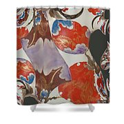 Colorful Fractal Shower Curtain