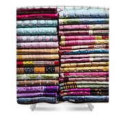 Colorful Garment Shower Curtain