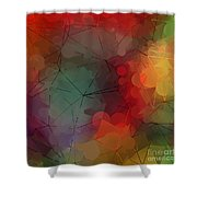 Colorful Geometric Pattern Abstract Art Shower Curtain