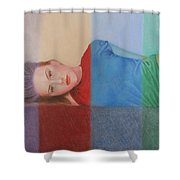 Colorful Girl Shower Curtain