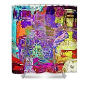 Colorful Glass Bottles Abstract Shower Curtain