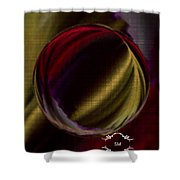Colorful Glass Marble Art  Shower Curtain