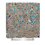 Colorful Glass Recycled For Construction Of Concrete Sidewalk Shower Curtain