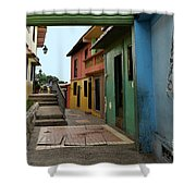 Colorful Guayaquil Alley Shower Curtain