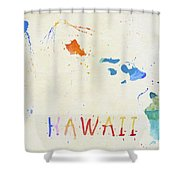 Colorful Hawaii Map Shower Curtain