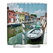 Colorful Homes Of Burano Shower Curtain