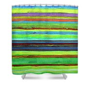 Colorful Horizontal Stripes Shower Curtain