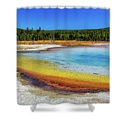 Colorful Hot Spring In Yellowstone Shower Curtain