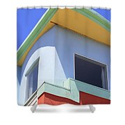 Colorful House In San Francisco Shower Curtain