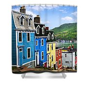 Colorful Houses In St. John's Shower Curtain