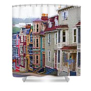 Colorful Houses In St. Johns, Nl Shower Curtain