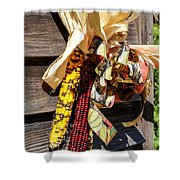 Colorful Indian Corn Decorations Shower Curtain